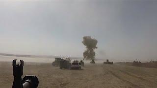 Kurdish Peshmerga destroyed an ISIS SVBIED (Suicide Vehicle-Borne Improvised Explosive Device) with MILAN ATGM near Mosul, Iraq.