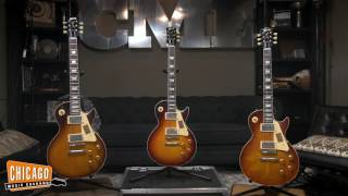 """These Les Paul Standards are far from """"standard."""" The newest additions to the CME custom collection are historically built in every sense of the word featuring hide glue construction, long neck tenons, '59 neck profiles, True Historic-spec hardware, and exclusive CME Custom Bucker S pickups. These guitars are truly some of the best to ever come off the benches at Gibson's Nashville Custom Shop. Riffs: """"Ten Years Gone"""" by Led Zeppelin (0:00)Original Riffs (5:14)Gear Used: Gibson Custom Shop Les Paul Standard Kindred Bursthttps://goo.gl/2tK00zGibson Custom Shop Les Paul Standard Slow Iced Tea Fadehttps://goo.gl/NmDIJLGibson Custom Shop Les Paul Standard Southern Fadehttps://goo.gl/ba0TWYCarr Skylark Combo 12W 1X12 Combohttps://ga-dev-tools.appspot.com/campaign-url-builder/Shure Beta 57A (https://goo.gl/UPLJYk)Aston Microphones Spirit Multi-Pattern Condenser Microphone (https://goo.gl/VZy926)Earthworks SR25 Cardioid Small Diaphragm Condenser High Definition Microphone (https://goo.gl/9gRDEU)"""