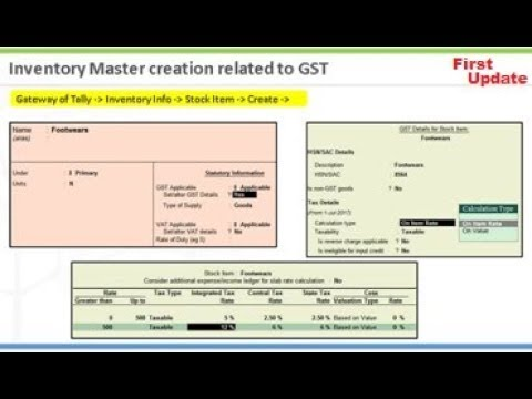tally erp 9 full tutorial in hindi all parts GST complete Tutorial in Tally Erp9 latest 6.1 in Hind
