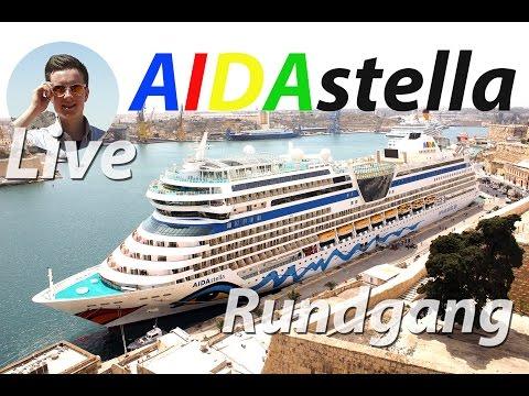AIDAstella 2h LIVE Rundgang - ungeschnitten (HD, 2016) mit den KreuzfahrtBuddies
