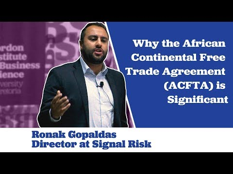 Ronak Gopaldas on why ACFTA is Significant