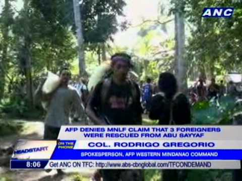Video AFP denies MNLF claim that 3 foreigners were rescued from Abu Sayyaf download in MP3, 3GP, MP4, WEBM, AVI, FLV January 2017