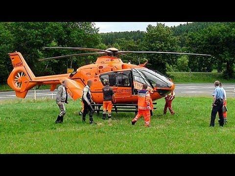 Waldeck: Kradfahrer nach Unfall in Klinik geflogen