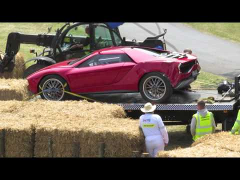 Lamborghini Giugiaro concept crashes during its run at the Goodwood Festival of Speed