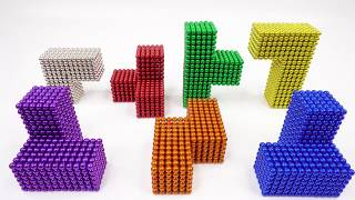 Tetris game with Magnet Balls | Magnet World 4k