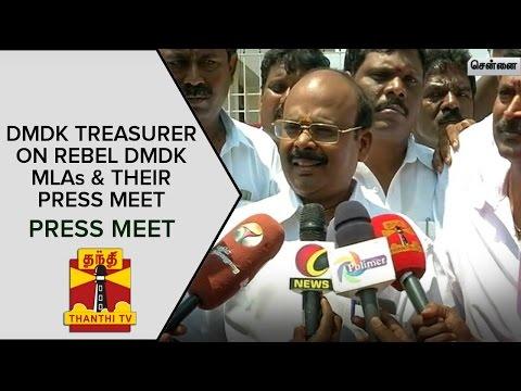 DMDK-treasurer-A-R-Elangovan-on-Rebel-DMDK-MLAs-and-Their-Press-Meet-Press-Meet--Thanthi-TV