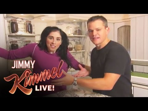 F. - Sarah Silverman reveals that she is f*@#ing Matt Damon to Jimmy Kimmel.