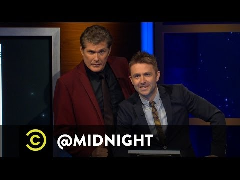 David Hasselhoff Photobombs @midnight - Kumail Nanjiani, Thomas Middleditch, T.J. Miller