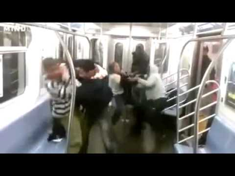 brutal - FIGHT IN A TRAIN.