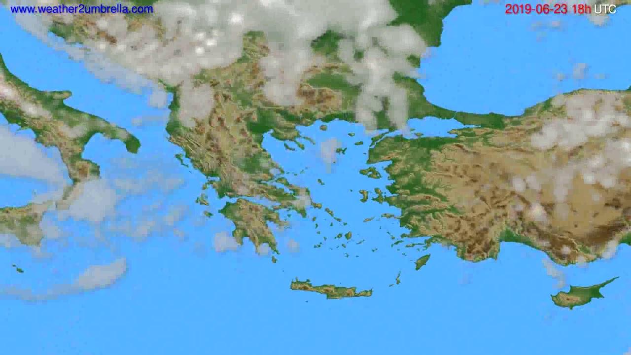 Cloud forecast Greece // modelrun: 00h UTC 2019-06-21