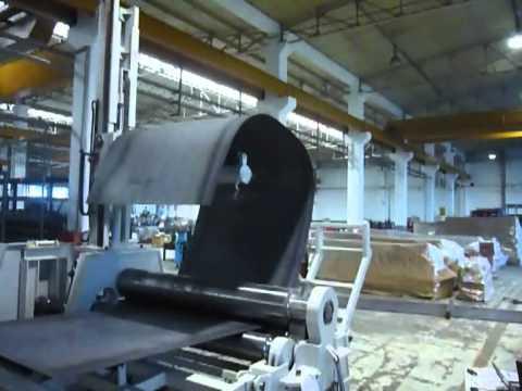 AHS 20/20 4 Rolls Hydraulic Plate Bending Machine - Elliptic Bending Test