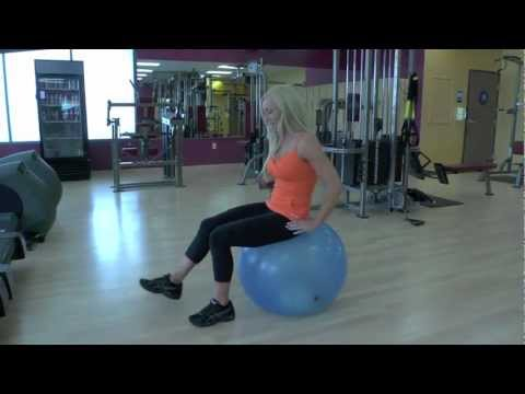 1 Minute Fit Tip: Stability Ball Sit Ups