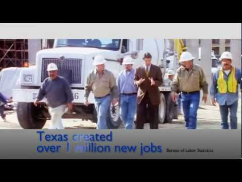 creating jobs - As president, Rick Perry will create at least 2.5 million jobs. In Texas, he created over 1 million new jobs while the rest of the nation lost nearly 2.5 mil...