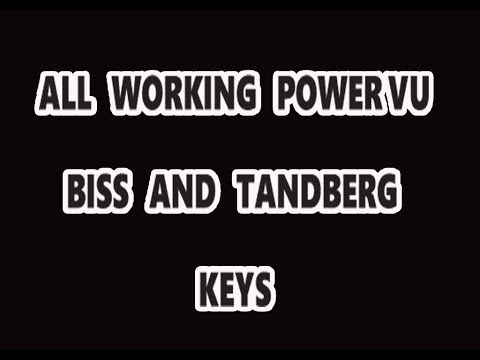 All Working Power VU,Biss and Tandberg Keys. All satellite new power vu key,biss key.