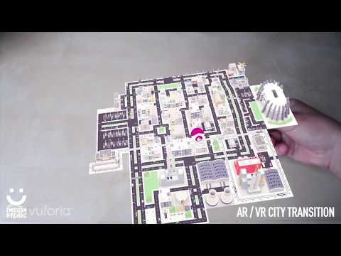 City immersion. Augmented to Virtual reality transition