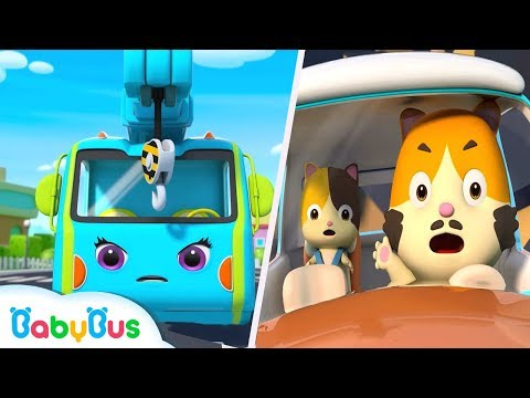 Crane and Tow Truck Rescue Team | Monster Truck, Fire Truck | Kids Songs | Kids Cartoon | BabyBus