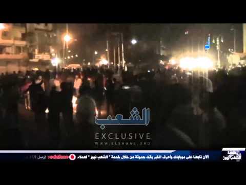 المتظاهرون يغلقون ميدان المطرية ليل الذكرى الرابعة للثورة