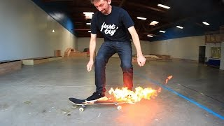 Video FLAMING SKATEBOARD GAME OF SKATE! MP3, 3GP, MP4, WEBM, AVI, FLV Agustus 2017