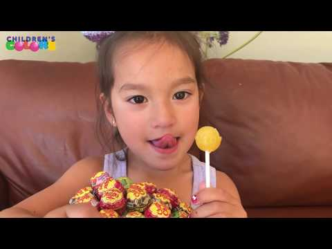 Layla Learns Colors With Lollipops