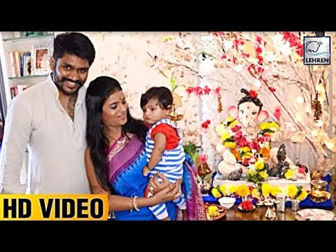 'Afsar Bitiya' Actress Mitali Nag Celebrates Ganpati With Family