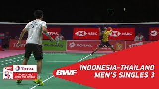 Video Thomas Cup | MS3 | Firman Abdul KHOLIK (INA) vs Pannawit THONGNUAM (THA) | BWF 2018 MP3, 3GP, MP4, WEBM, AVI, FLV November 2018