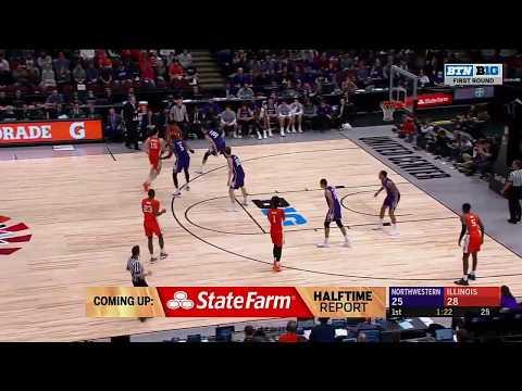 First Half Highlights: Illinois Leads Northwestern at the Half | 2019 B1G Basketball Tournament