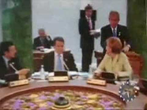 Bush Creeps Out German Chancellor, Controversial Footage
