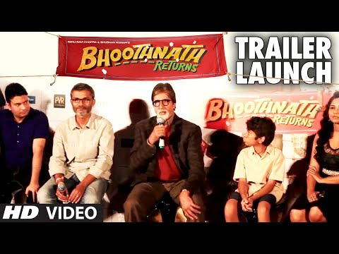 Bhoothnath Returns Trailer Launch  | Amitabh Bachchan, Nitesh Tiwari Bhoothnath Returns Trailer Launch  | Amitabh Bachchan, Nitesh Tiwari
