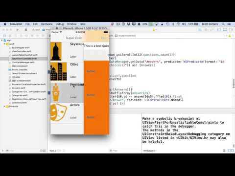 Learn To Build Your First Professional iOS App - Shuffle Answer