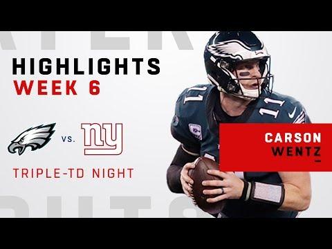 Carson Wentz Wins Big w/ 3 TDs vs. NYG!