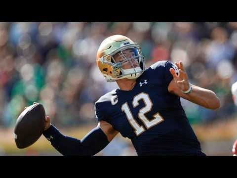 Ian Book Full Highlights 2019.09.14 ND vs New Mexico - 406 Total Yds, 6 TDs! | CollegeSportsWave
