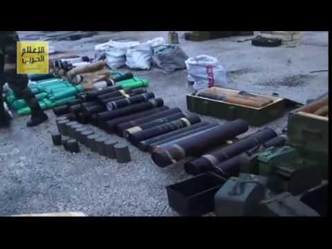 Огромное количество оружия захваченное сирийской армией у боевиков к востоку от Алеппо - DomaVideo.Ru