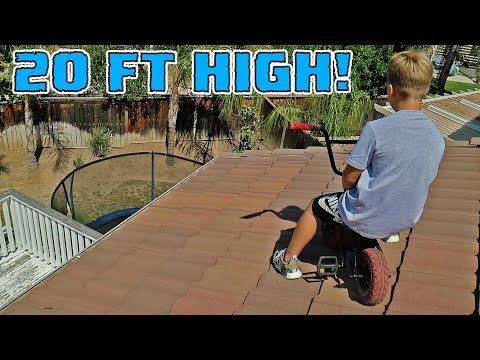 ROCKER MINI BMX ROOF JUMPING WITH CRAZY 8 YEAR OLD (видео)