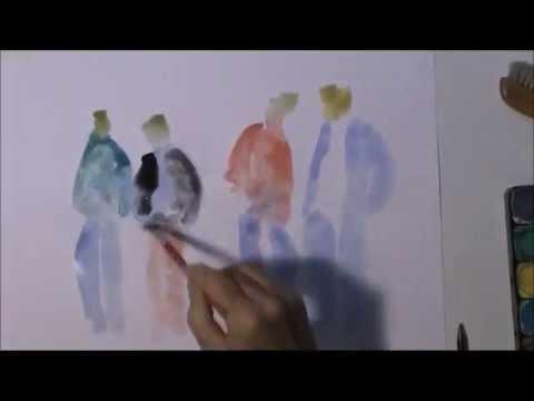 Menschen skizzieren