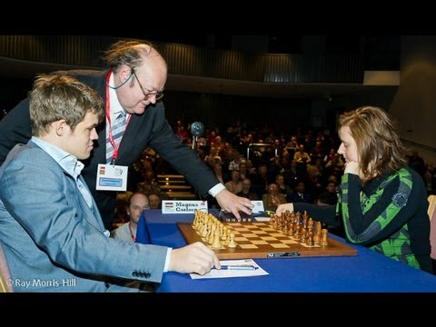 Amazing Chess Game : Magnus Carlsen vs Judit Polgar – London Classic (2012) – English Opening