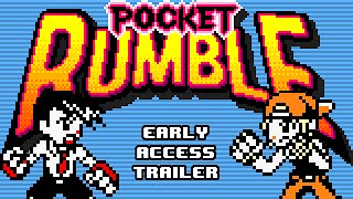 http://store.steampowered.com/app/389050/Pocket Rumble, the debut title from Cardboard Robot Games, is now available on Steam Early Access!It was inspired by the SNK fighters for Neo Geo Pocket, and features Street Fighter-style gameplay with simplified inputs and an 8-bit art style.