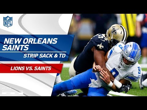 Video: Saints Strip Sack Stafford in End Zone & Recover the Ball for a TD! | Lions vs. Saints | NFL Wk 6