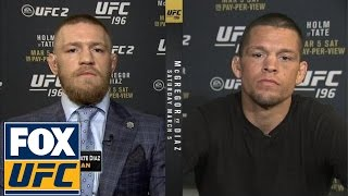 Video Conor McGregor and Nate Diaz join FOX Sports Live (3/3/16) MP3, 3GP, MP4, WEBM, AVI, FLV Mei 2019