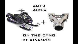 8. How much power does the Arctic Cat Alpha CTEC 800 make with a Bikeman Y Pipe? Find out here!