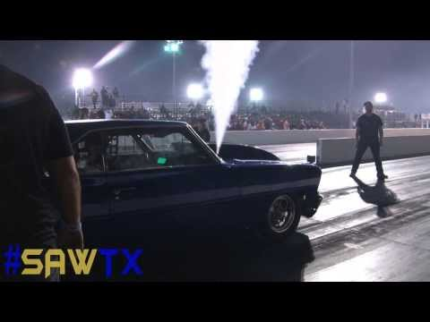 Launch goes horribly wrong before drag race