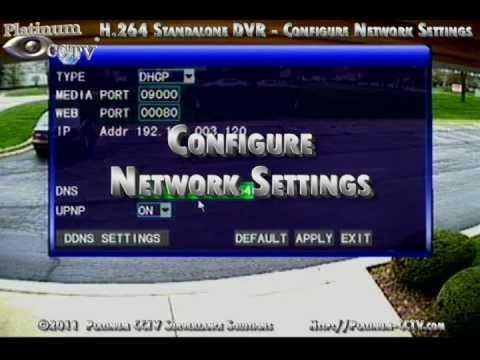 how to turn on h.264 network dvr