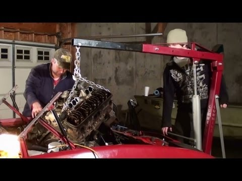 Pontiac Trans Am Engine Swap Part 4 – Removing the Engine – 305 TPI to 357 Carbed