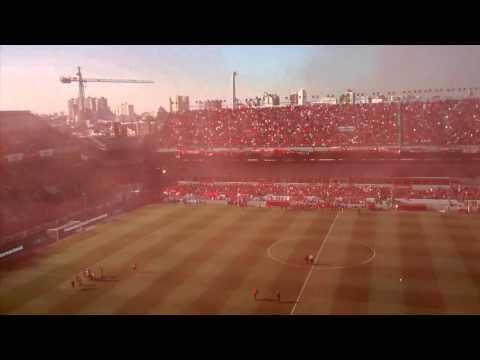 Recibimiento Independiente 3-0 Racing - La Barra del Rojo - Independiente