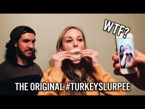 girl eats slice of turkey in less than one second