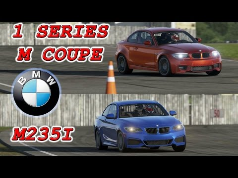 BMW M235i vs BMW 1 Series M Coupe Top Gear Track (видео)