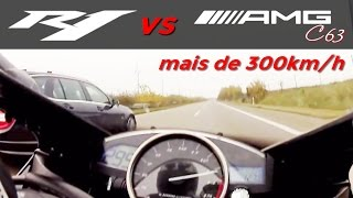 TOP SPEED more than 300km/h Mercedes-benz Top Speed: 310km/h High Quality Video Camera: GoPRO Music: No music, just bike and car sounds. Location: Germany Ro...