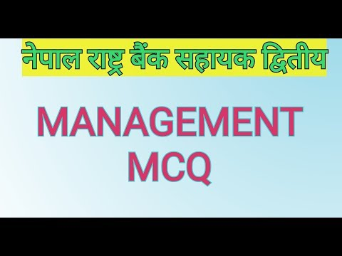 (Management MCQ in English for Nepal Rastra Bank Assistant level - Duration: 10 minutes.)