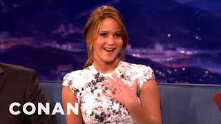 Jennifer Lawrence Stalked John Stamos At A Party - CONAN on TBS