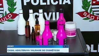 Casal é preso suspeito de adulterar validade de cosméticos vencidos em Iperó
