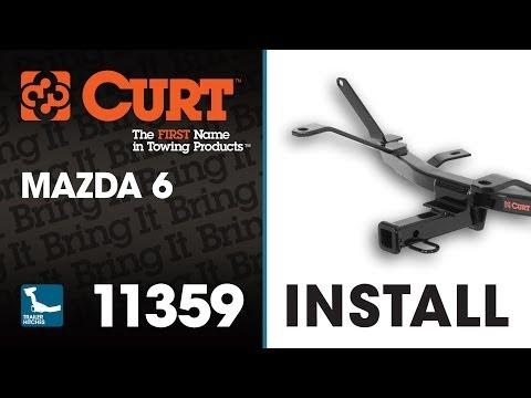 Trailer Hitch Install: CURT 11359 on Mazda 6